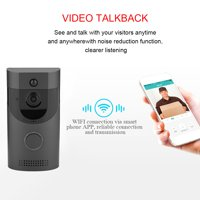 Wireless WiFi Smart Doorbell Video Intercom PIR Detection IR Night Vision for Home Security, WiFi Video Doorbell, Wireless Door Bell