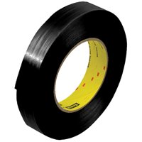 T915890B Black 1 Inch x 60 yds. 3M 890MSRB 8.0 Mil Strapping Tape CASE OF 36