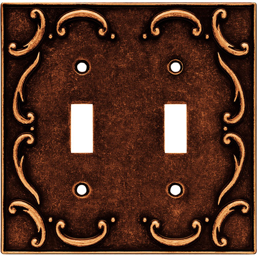 Brainerd French Lace Double-Switch Wall Plate, Available in Multiple Colors