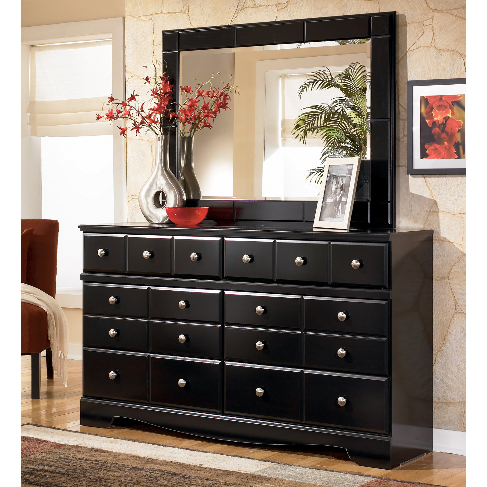 Signature Design by Ashley Shay 6 Drawer Dresser with Optional Mirror