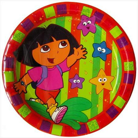 dora the explorer 'star catcher' large paper plates - Dora Star Catcher