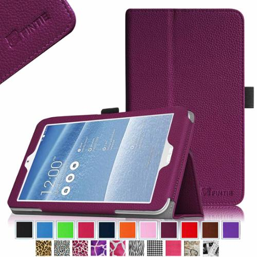 Fintie Folio Leather Case Cover With Auto Wake / Sleep Feature for ASUS MeMO Pad 8 ME181C Tablet, Purple
