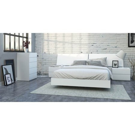 pc eco friendly queen bedroom set in white finish