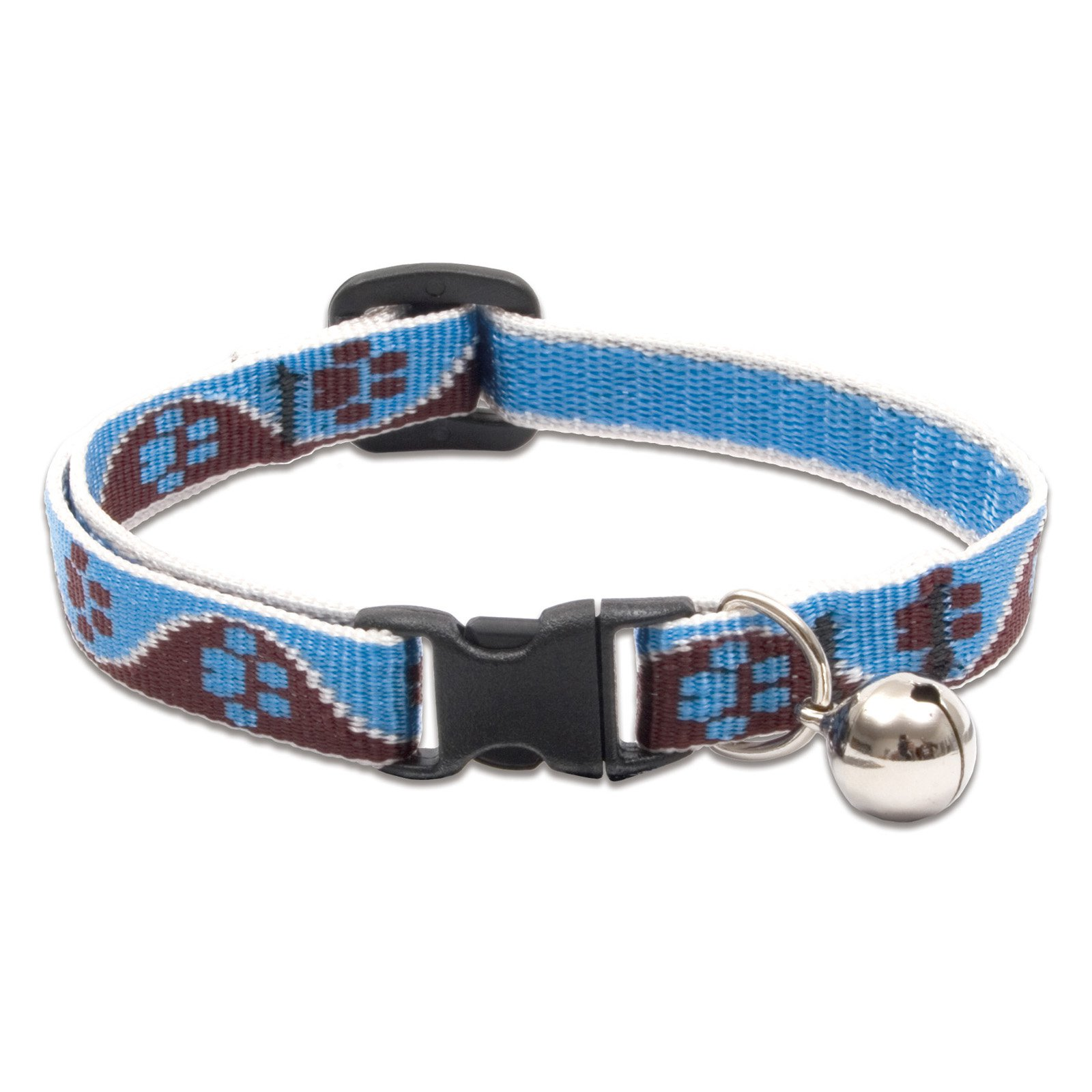 """Lupine Collars and Leads 34527 1 2"""" x 8-12"""" Muddy Paws Cat Collar with Bell by Generic"""