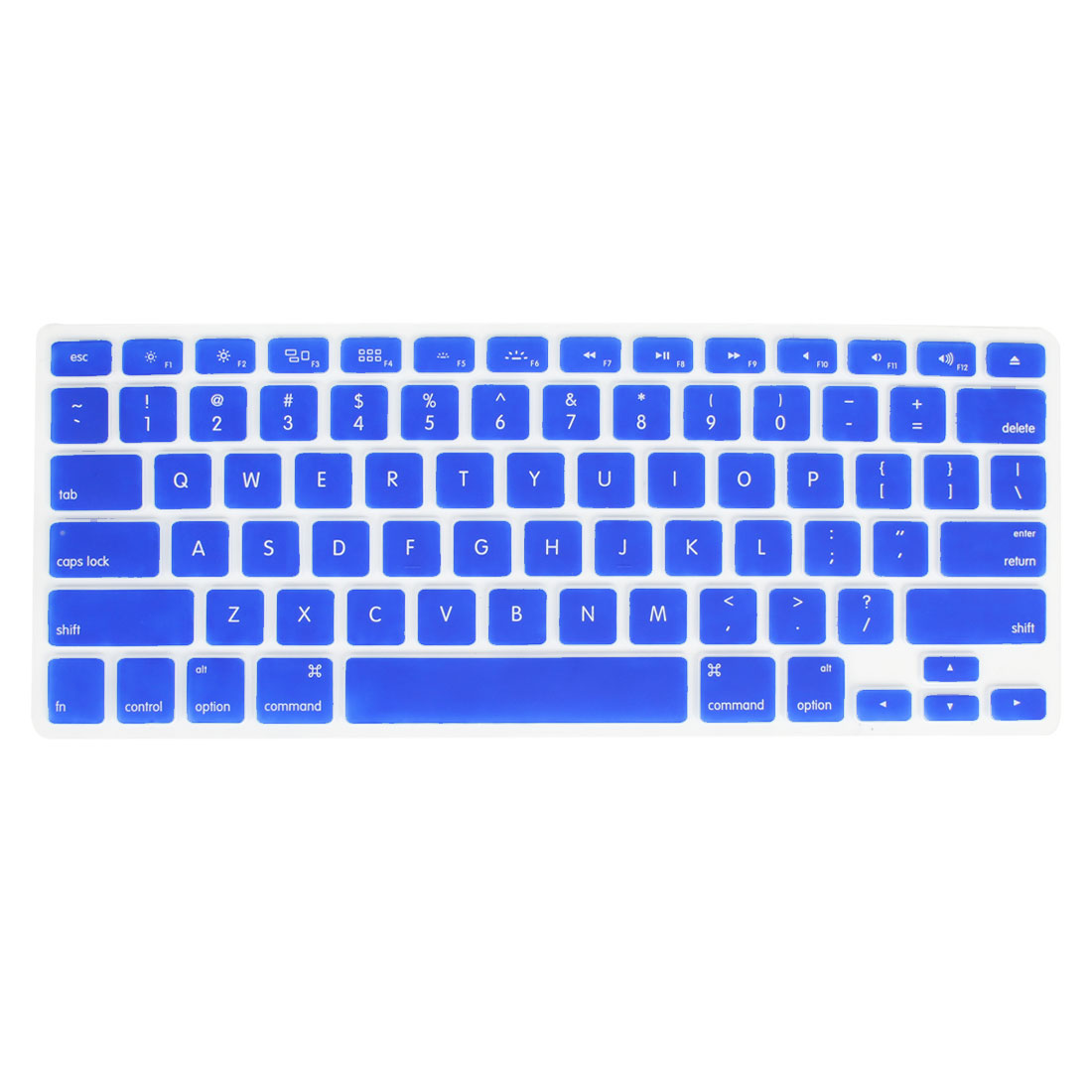 Sky Blue Silicone Notebook Laptop Keyboard Film Cover Skin for MacBook 13.3""