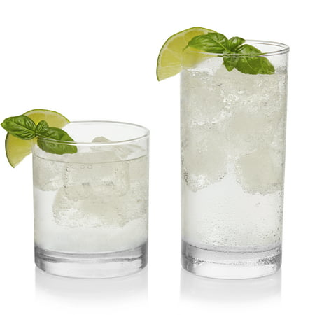 Libbey Province 16-Piece Tumbler and Rocks Glass (Louis Blues Rocks Glass)
