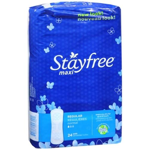 STAYFREE Maxi Pads Regular 24 Each (Pack of 2)