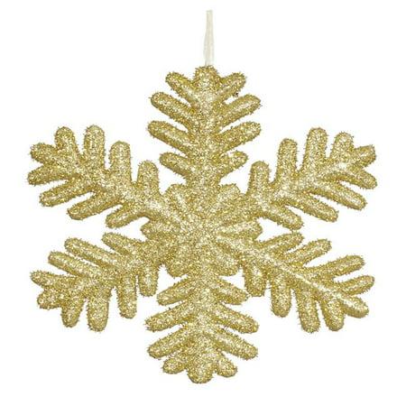 Gold Glitter Snowflake Ornament - 13.75 in. - image 1 de 1