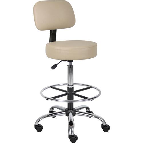 Boss Caressoft Medical Drafting Stool With Back Cushion