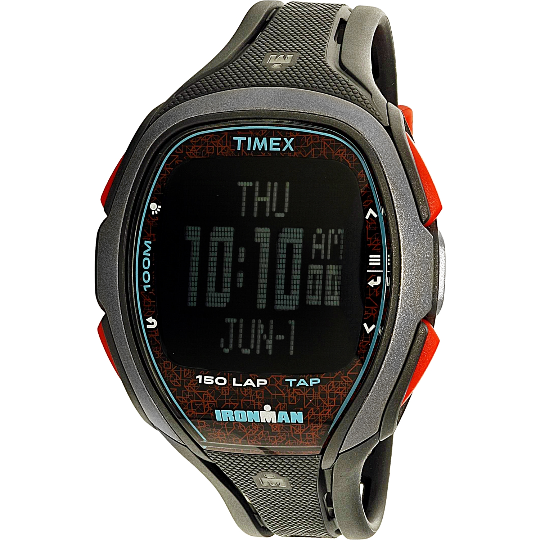 Timex Men's TW5M08100 Black Polyurethane Quartz Sport Watch by Timex