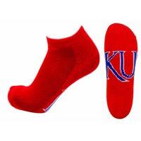 Kansas Jayhawks No Show Footie, Red Sock