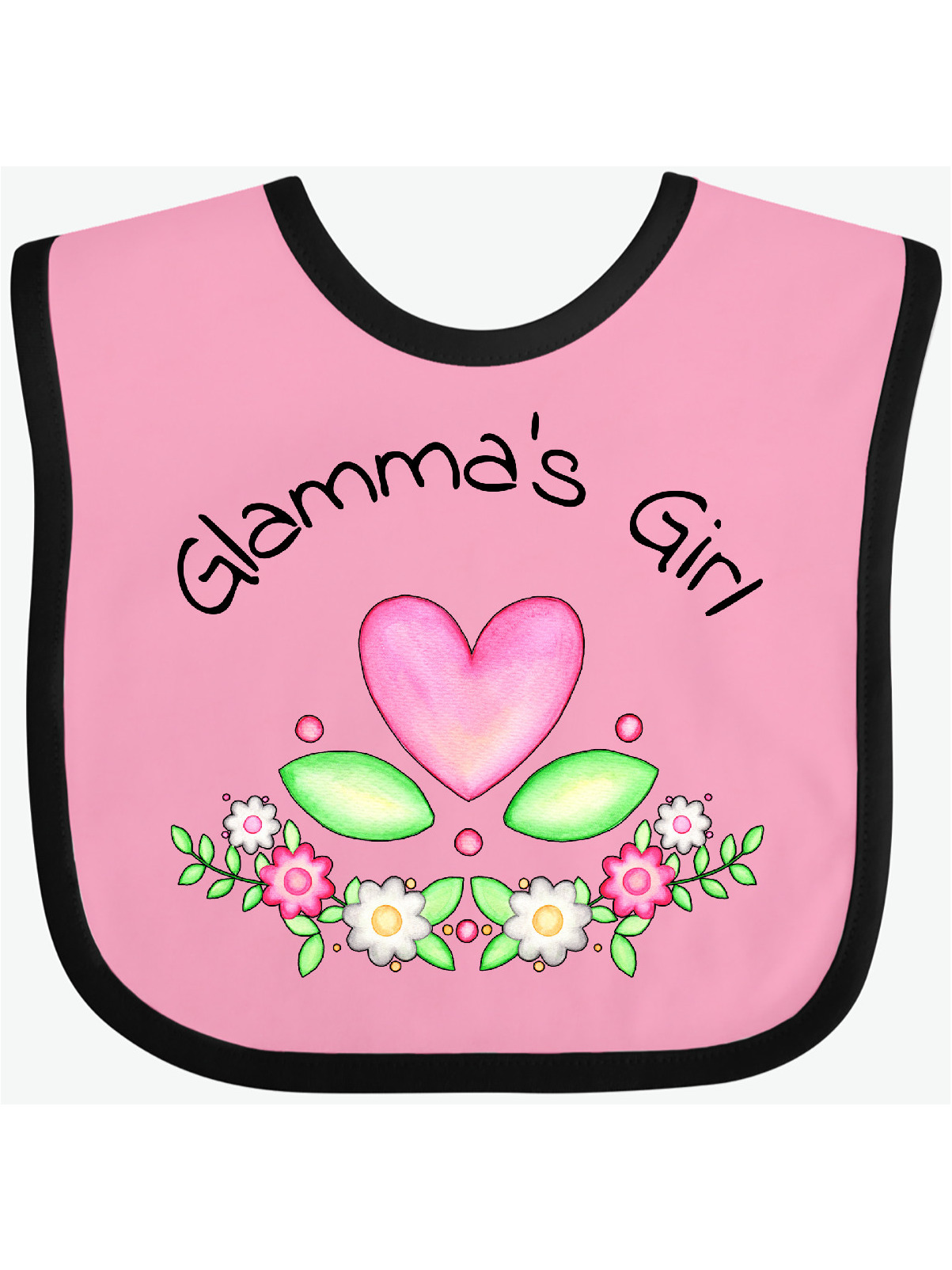 Toddler /& Baby Bibs Burp Cloths I Get My Style from Glamma with Star Cotton Items for Girl Boy A White Custom Text Here