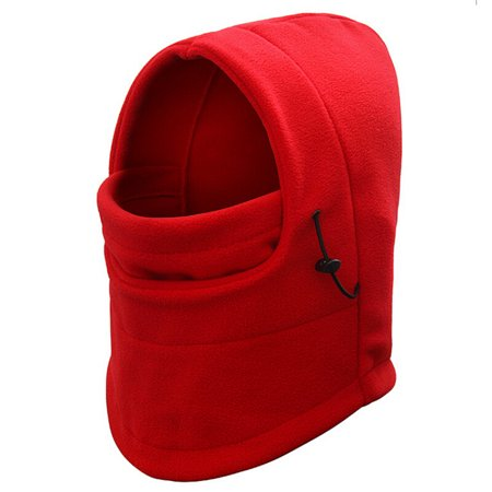 Womens Winter Warm Wind Proof Hood Fleece Hats for Bicycle Ski Outdoor (Red)](Windy Hat)