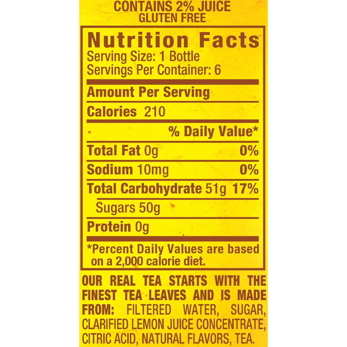 Iced Tea Nutrition Facts – Besto Blog