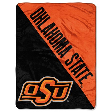 "State Cowboys Ice (NCAA Oklahoma State Cowboys ""Halftone"" 46""x 60"" Micro Raschel Throw )"