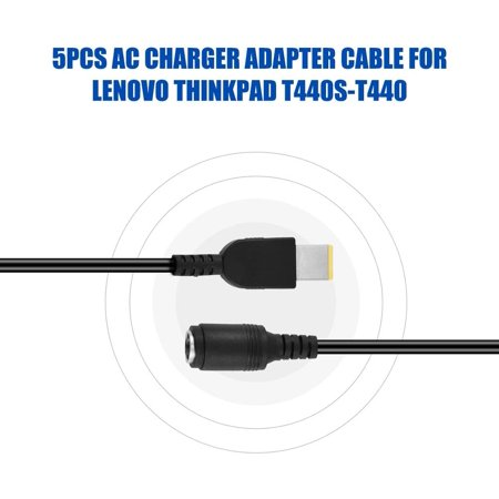 5 Pcs AC Charger Power Supply Adapter Converter Cable for Lenovo ThinkPad T440S-T440 Black - image 5 of 5