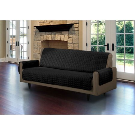 Linen Store Furniture Cover, Pet Protector, Micro Suede [Black, Sofa]