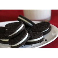 Peel-n-Stick Poster of Snack Chocolate Cookies And Milk Oreos Cookies Poster 24x16 Adhesive Sticker Poster Print