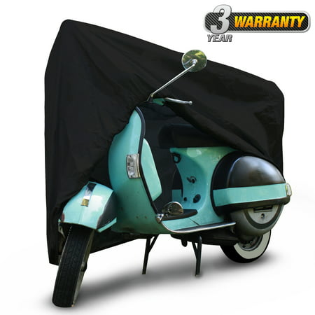 Waterproof Outdoor Scooter Cover, UV Resistant Cover (Black), Size SC-1: Fits up to 49