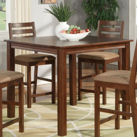 East West Furniture Cafe Square Counter Height Dining Table