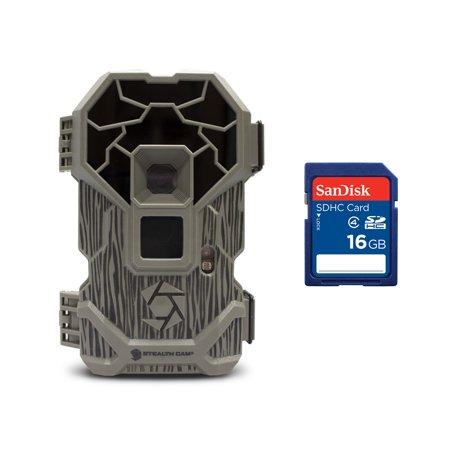 - Stealth Cam PXP24NG 16MP Wildlife Hunting Game Trail Camera + 16GB Memory Card