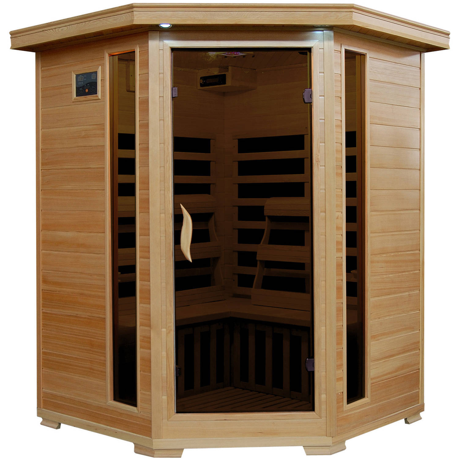 Radiant Saunas 3-Person Corner Carbon Infrared Sauna