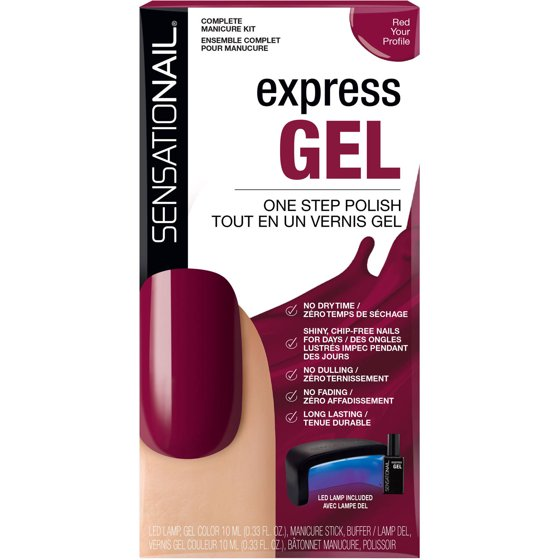SensatioNail Express Gel Nail Polish Manicure 4-piece Kit \