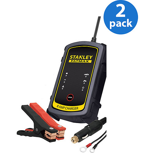 Stanley FatMax Battery Charger/Maintainer includes *Bonus Power Cord*, (2) Pack Bundle