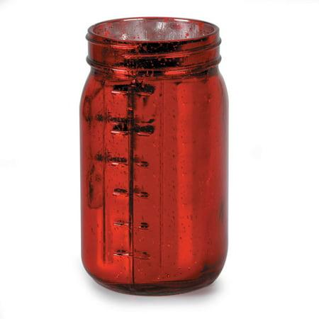 Mason Jar Decorating Ideas (Mason Jar Decorations: Red Mercury Glass Mason)