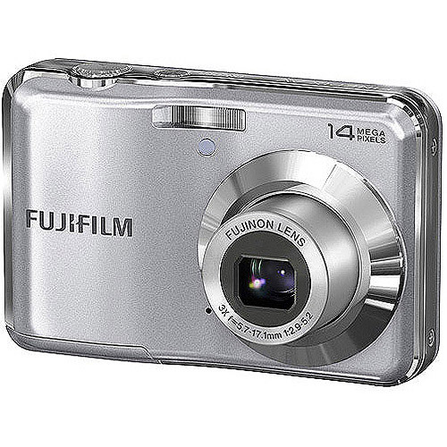 "FUJIFILM FinePix AV200 Silver 14MP Digital Camera w/ 3x Optical Zoom, 2.7"" LCD w/ 50 Bonus Prints"