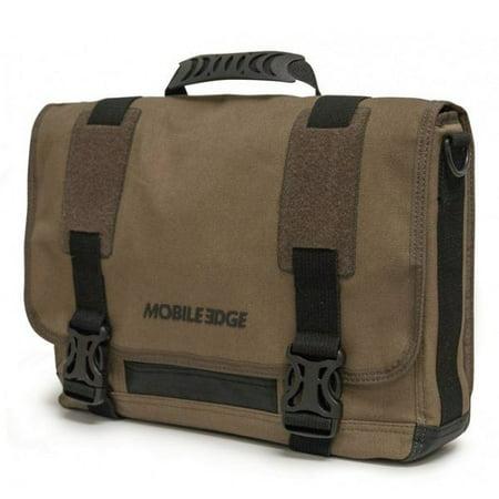 Mobile Edge MEUME9 ECO Chromebook / Ultrabook Messenger (Eco-Friendly, Olive) Eco Friendly Messenger Bag