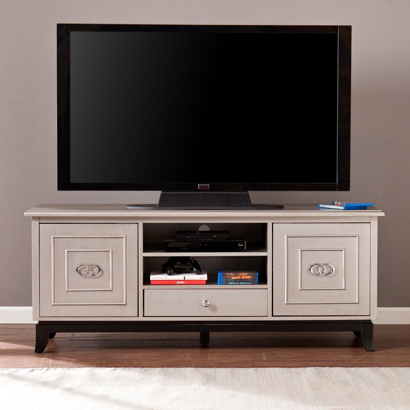 Southern Enterprises Wildon 60 in. TV   Media Stand Antique Gray by Southern Enterprises Inc