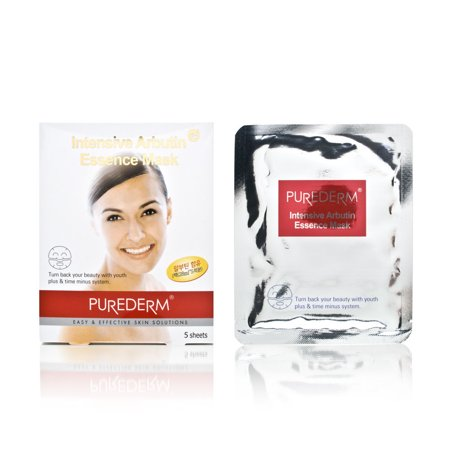 (Purederm Intensive Arbutin Essence Mask 5 Sheets)