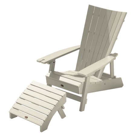 Highwood Manhattan Beach Adirondack Chair Wine Holder Ottoman Set