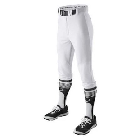 Evoshield Men's Throwback Baseball Pants Adult Short Knicker  White WTV1078TW (Adult Baseball Knickers)