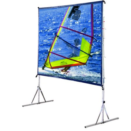 Draper Cinefold Complete Square Format - Projection screen with legs - rear - 130