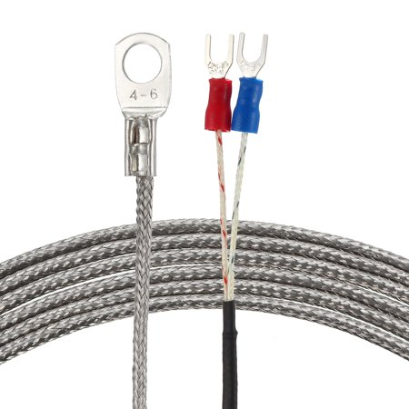 K Type Temperature Sensor Probe 3 Meters Cable 6mm Hole Thermocouple 32~1112°F (0~600°C) - image 3 de 3