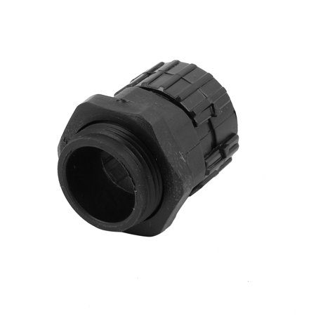 5 Pcs 21.2mm ID M24x1.5mm Thread Plastic Cable Gland Pipe Connector Joints Black - image 1 of 3