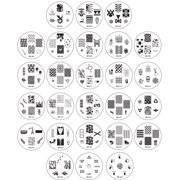 Bundle Monster 26pc Nail Art Image Manicure Stamping Plates-CYO 1 Collection