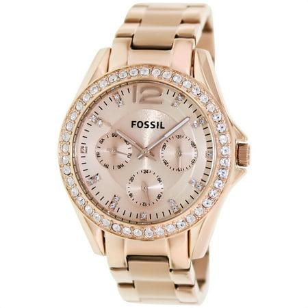Fossil Women's Riley ES2811 Rose-Gold Stainless-Steel Analog Quartz Fashion Watch