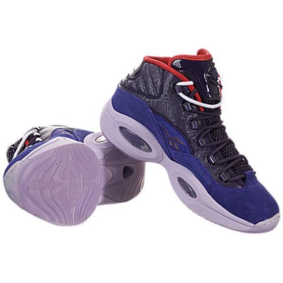 60fdbf2f678f44 Reebok - Reebok Question Mid Basketball Shoes - Purple Ink Fearless Purple- Purple Oasis-Red (Mens) - 8.5 - Walmart.com