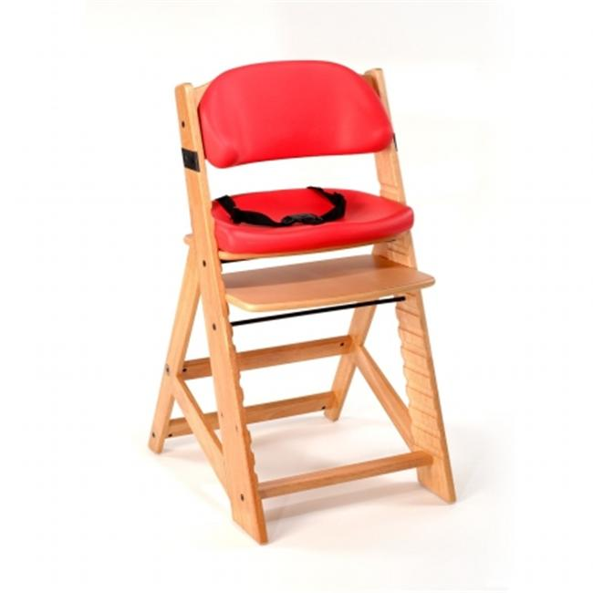 Keekaroo 0055201KR-0002 Height Right KIDS Chair Natural with Cherry Comfort Cushions