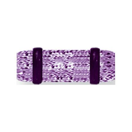 Acrylic UV Sensitive Heavy Glitter Plug w 2 Rubber O-Rings 6G (4.1mm) 1/2 Non Metal - image 1 of 1
