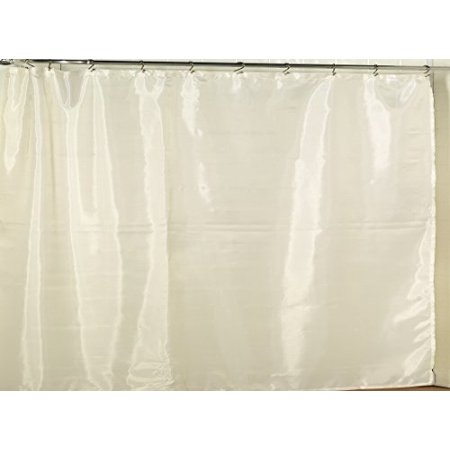 Royal Bath Extra Wide Water Repellant Fabric Shower Curtain Liner With Weighted Hem 108