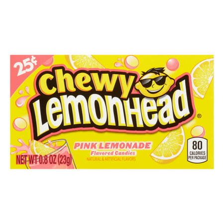Lemonhead, Pink Lemonade Chewy Candy, 0.8oz (Box of 24)