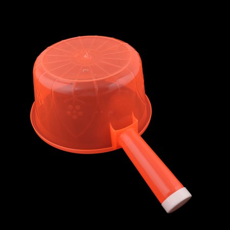 Household Kitchen Plastic Round Shape Nonslip Grip Water Dipper Ladle Bailer Red - image 3 of 4