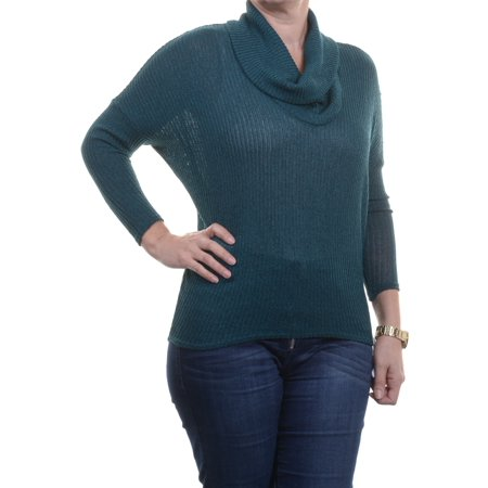 Cuddle Cover (Bar Iii Women's Cowl Neck 3/4 Sleeve Sea Cove Sweater Size)