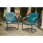 Hanover Outdoor Retro C-Spring Steel Chair, Aruba