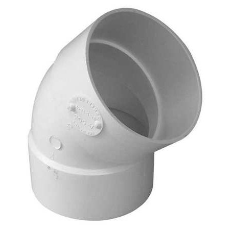 GENOVA Elbow, 45 Degrees, PVC, 3in., Hub 40630