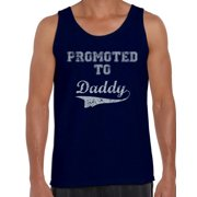 Awkward Styles Men's Promoted to Daddy Cute Graphic Tank Tops New Dad Father's Day Gift Father To Be